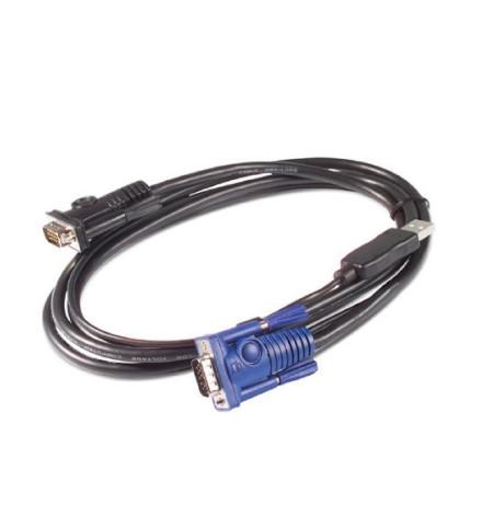 Cabo Teclado Vídeo Mouse SUN USB da APC, 3.6 m