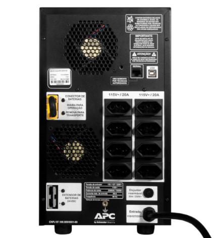 Nobreak APC Inteligente Smart-UPS BR 2200VA / 2200Watts, 115/220V Brasil