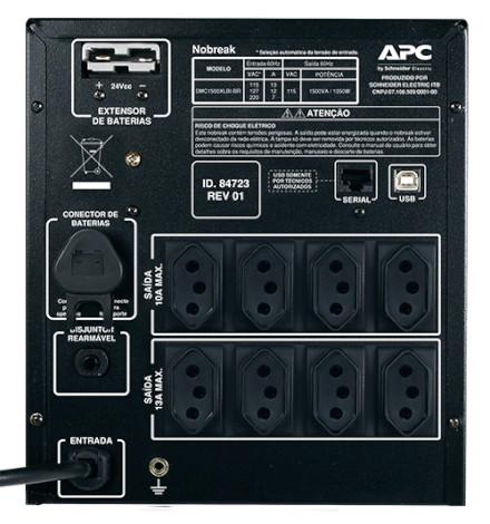 Nobreak APC Inteligente Smart-UPS BR 1500VA / 1050Watts, 115/220V Brasil
