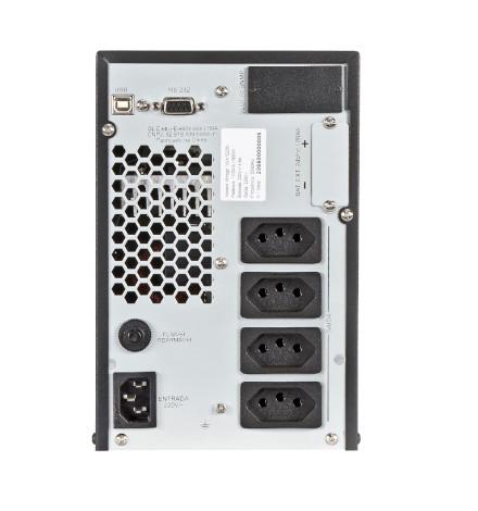 Nobreak SMS Inteligente Mirage 1000VA / 800Watts, 220V com 4 Tomadas