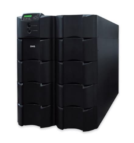 Nobreak SMS Inteligente Sinus Double II Black 15000VA / 12000Watts, Entrada 220V, Saída 110+110/220V ou 120+120/240V (selecionável)