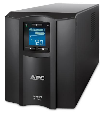 Nobreak APC Inteligente Smart-UPS C 1000VA / 600Watts, 120V, Painel LCD, Brasil